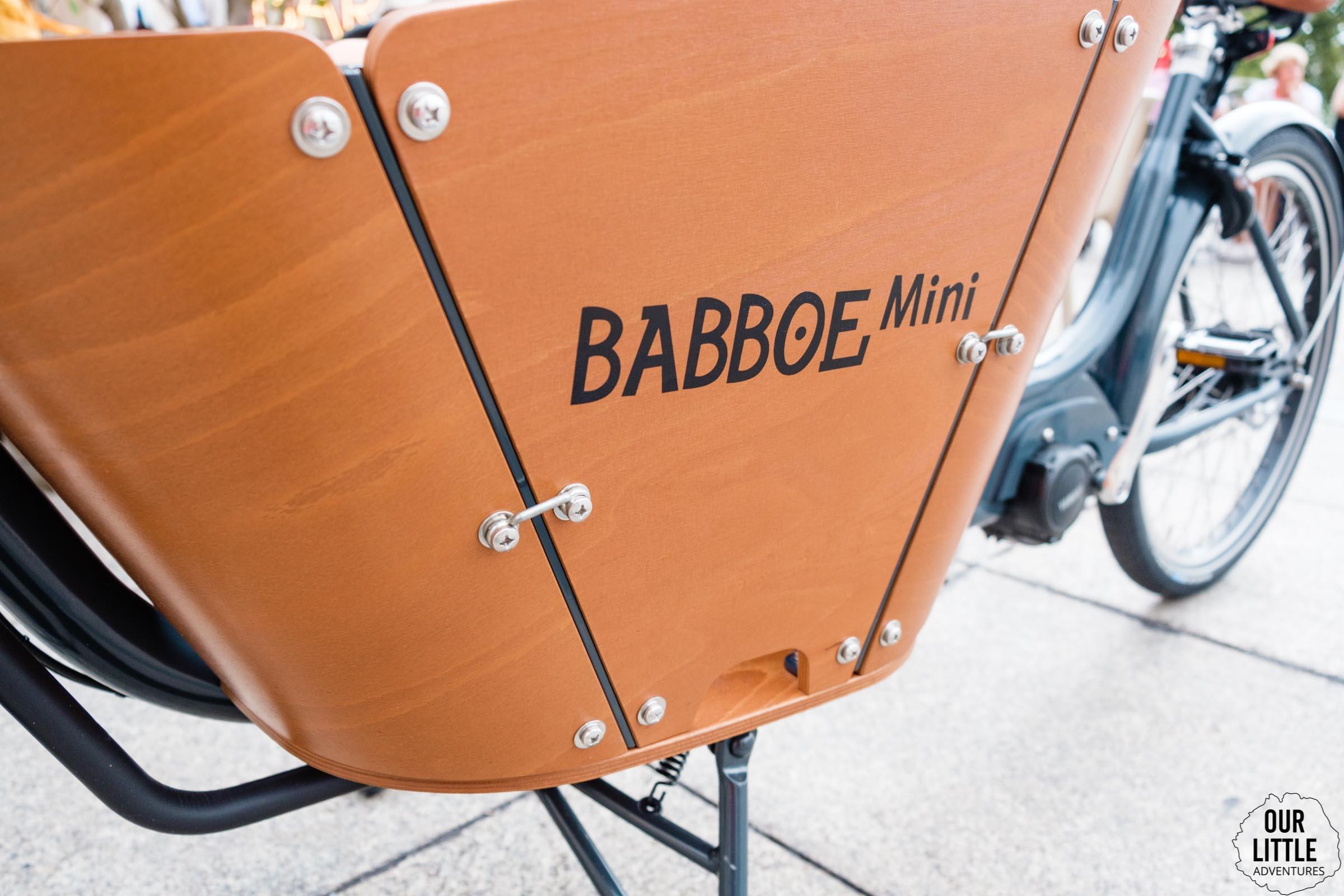 Skrzynia w rowerze cargo Babboe Mini