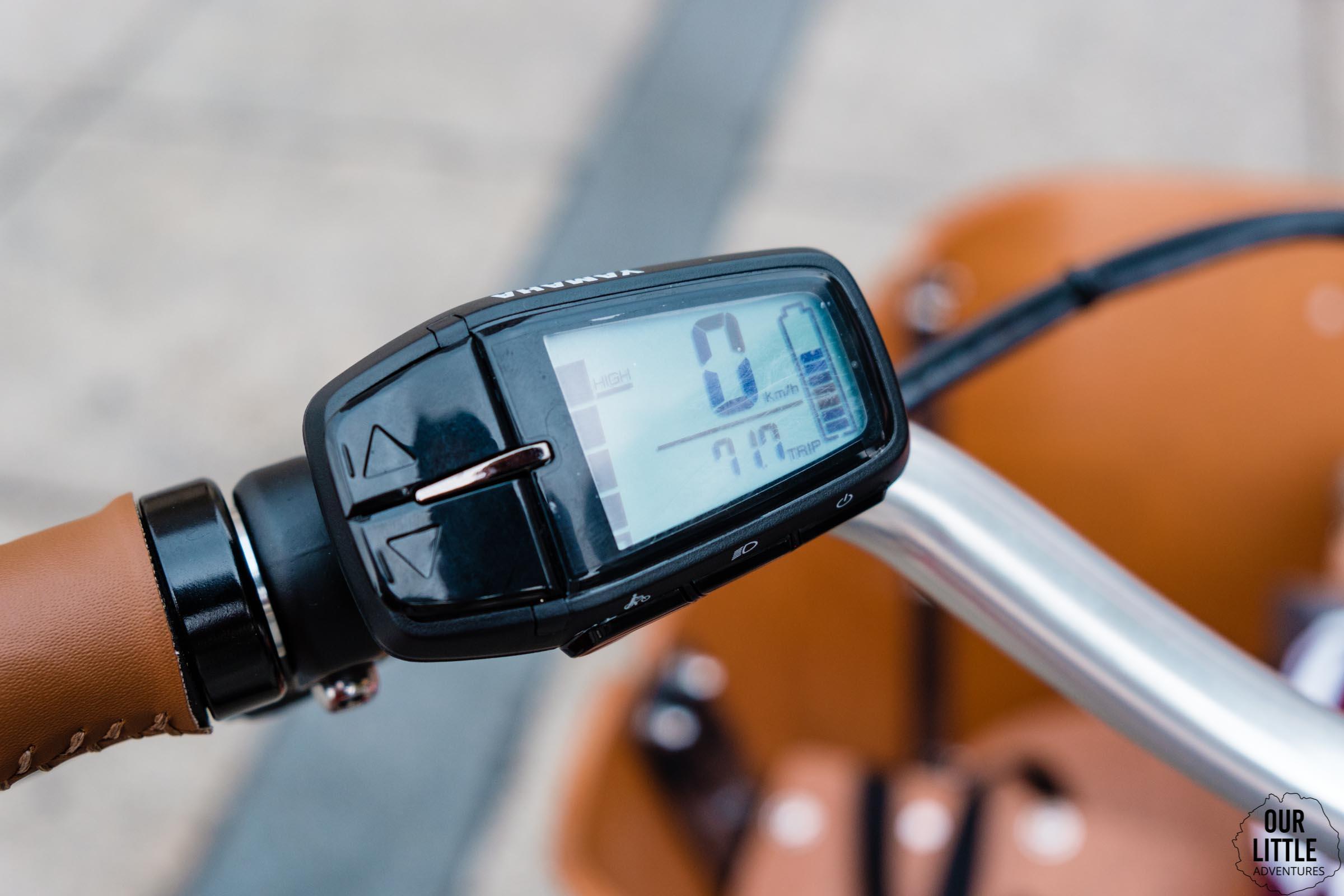 Sterowanie silnikiem Yamaha w rowerze cargo Babboe Mini