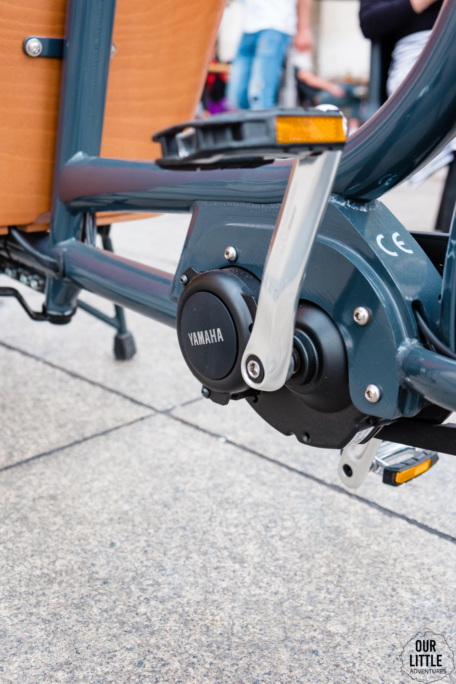 Silnik Yamaha w rowerze cargo Babboe Mini