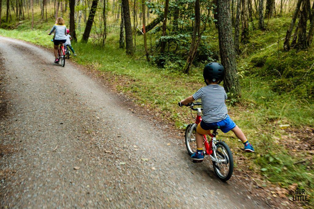 na szlaku Rowerowym Mierzei Wiślanej z dziećmi