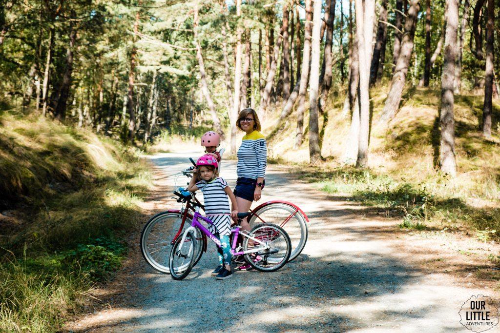 na szlaku Rowerowym Mierzei Wiślanej z dzieciakami