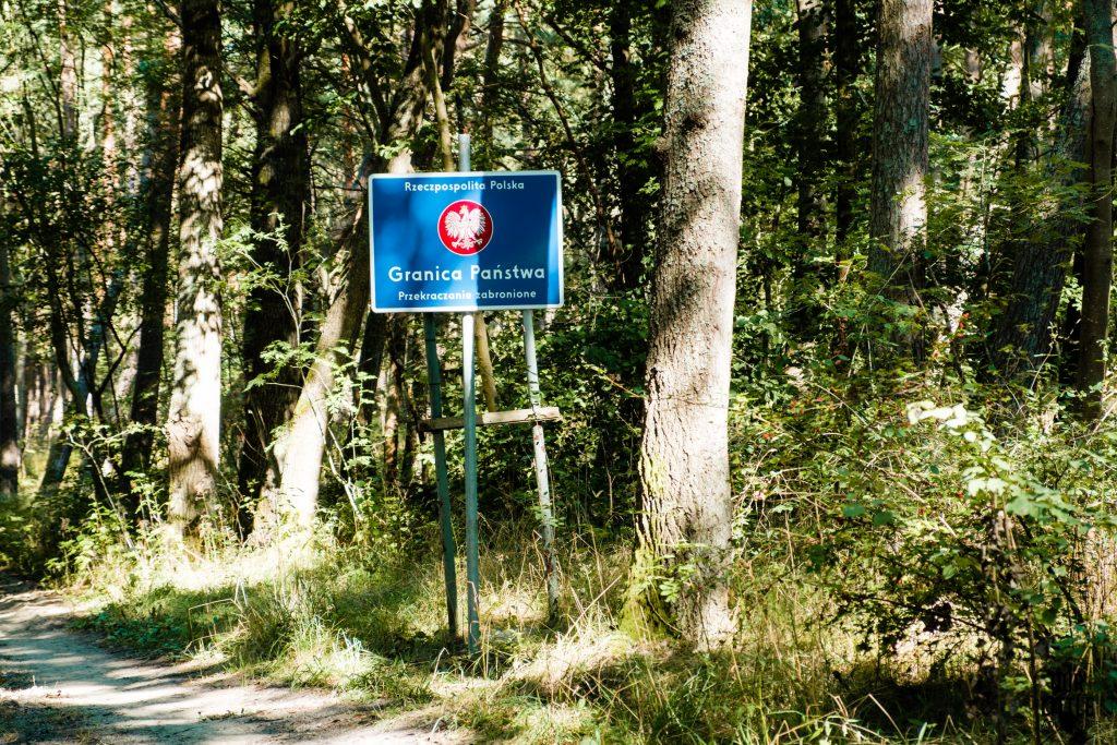 Granica Polsko-rosyjska na szlaku Rowerowym Mierzei Wiślanej