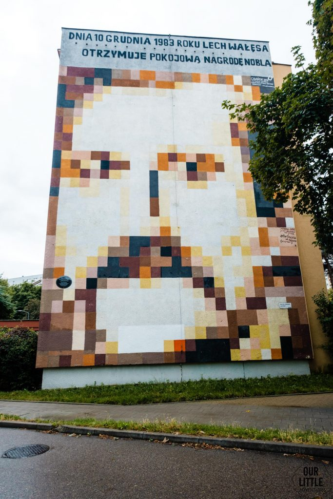 Murale na Zaspie - Wałęsa