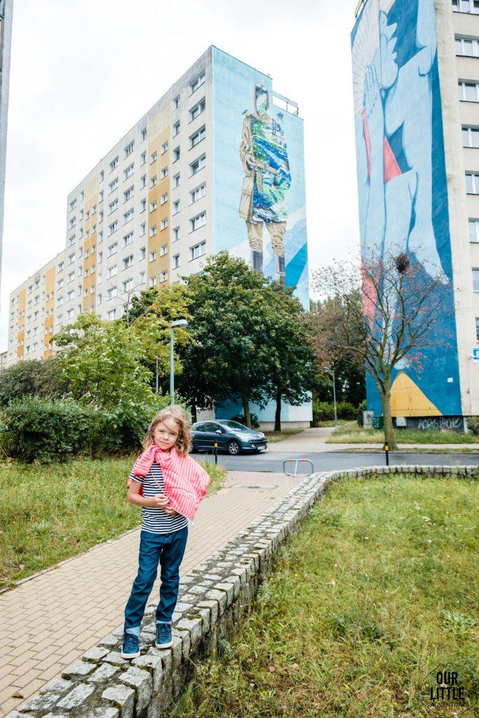 Murale na Zaspie - spacer