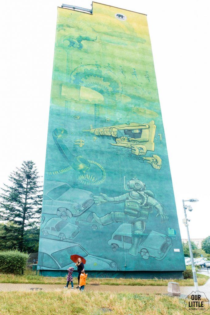 Murale na Zaspie - nurek