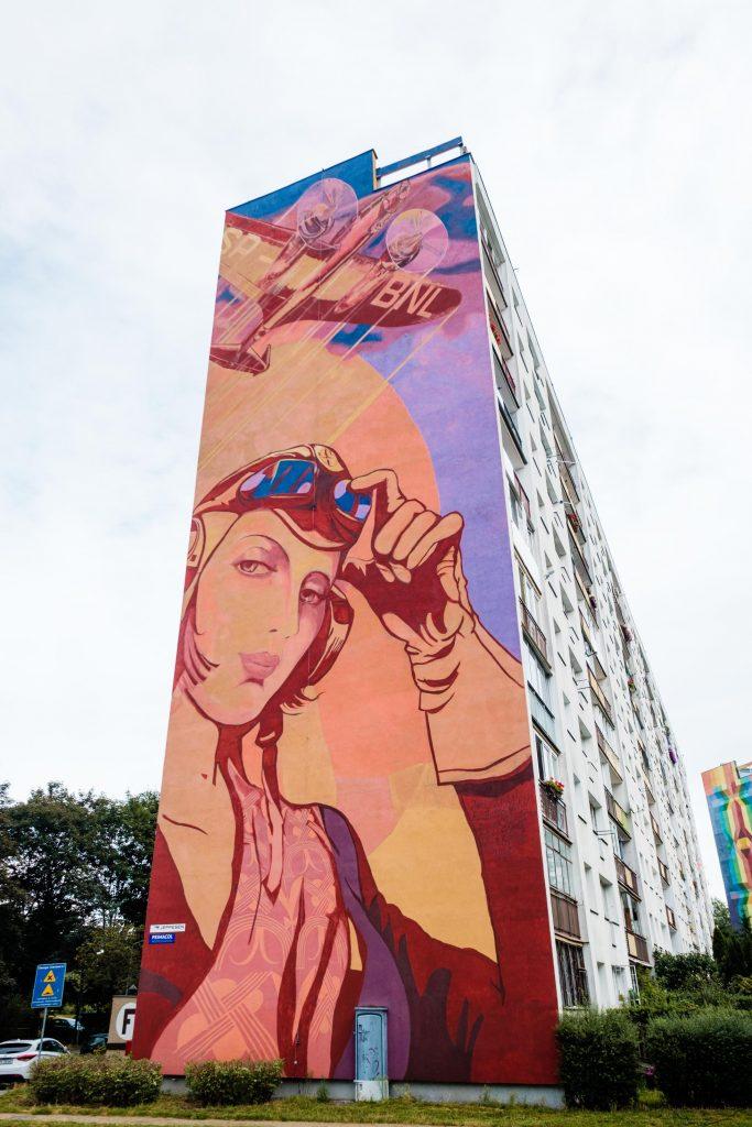 Pilotka - Murale na Zaspie