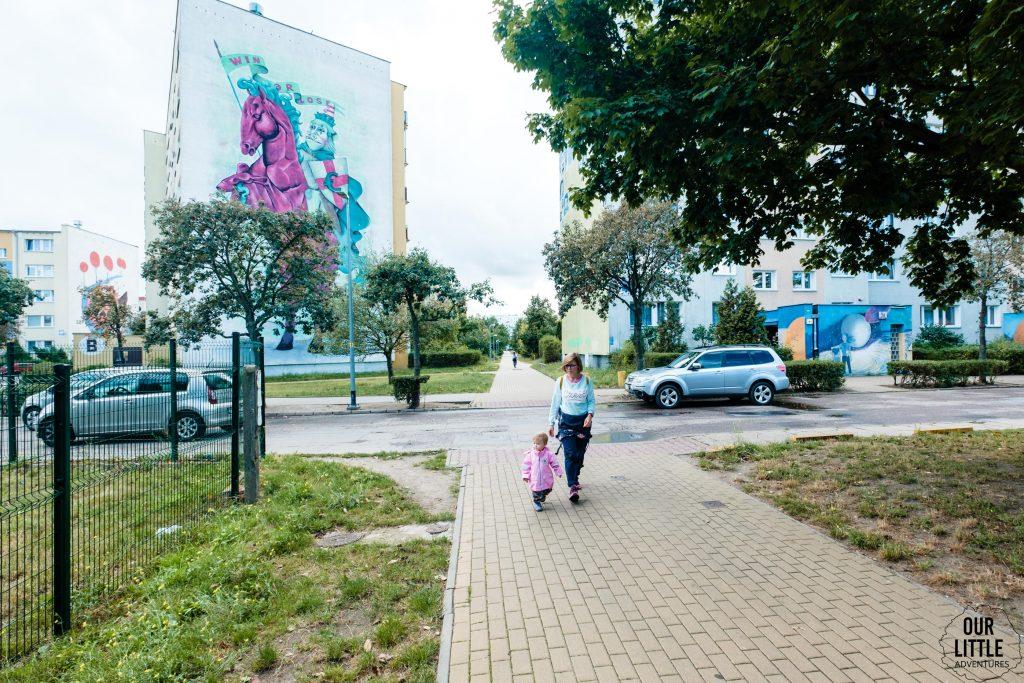 Rycerz na jednorożcu - Murale na Zaspie