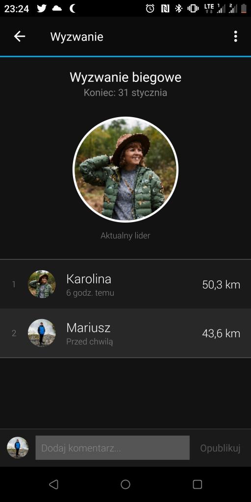 Wyzwanie biegowe - Garmin