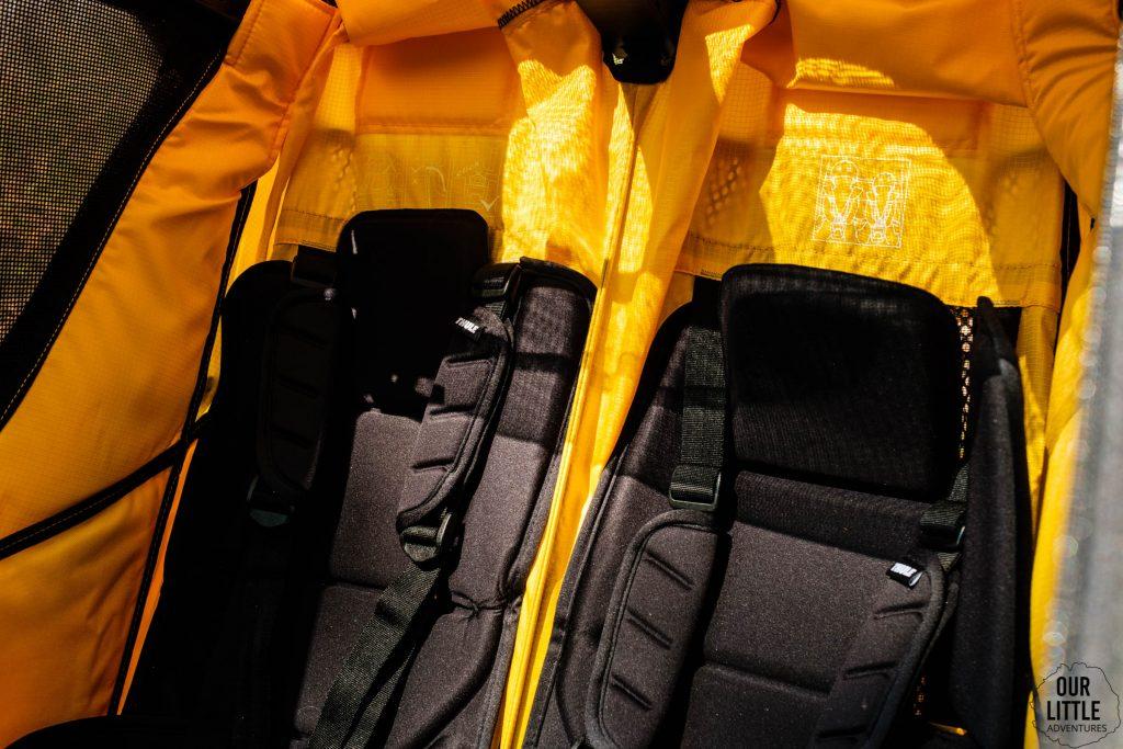 Dodatkowe wkładki na siedzenia w przyczepce do biegania Thule sport 2