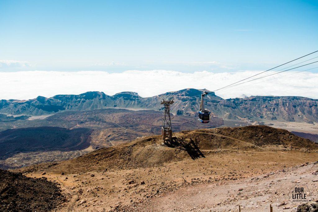 kolejka na najwyższy szczyt Hiszpanii el pico del Teide