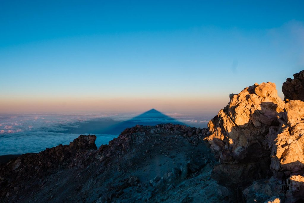 cień wulkanu el Teide