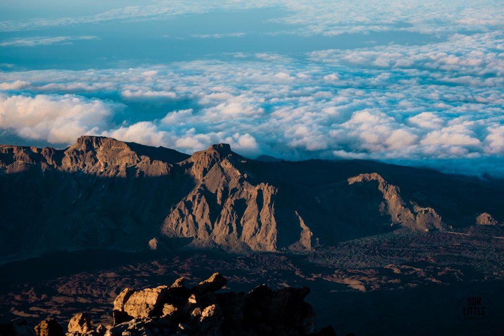 widok na kalderę z el pico del teide