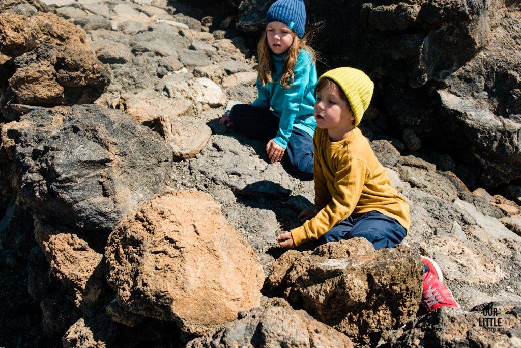 Dzieci na szlaku na najwyższy szczyt Hiszpanii - el pico del Teide