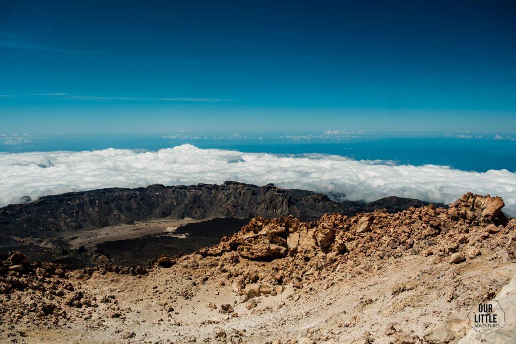 widok z El pico del Teide