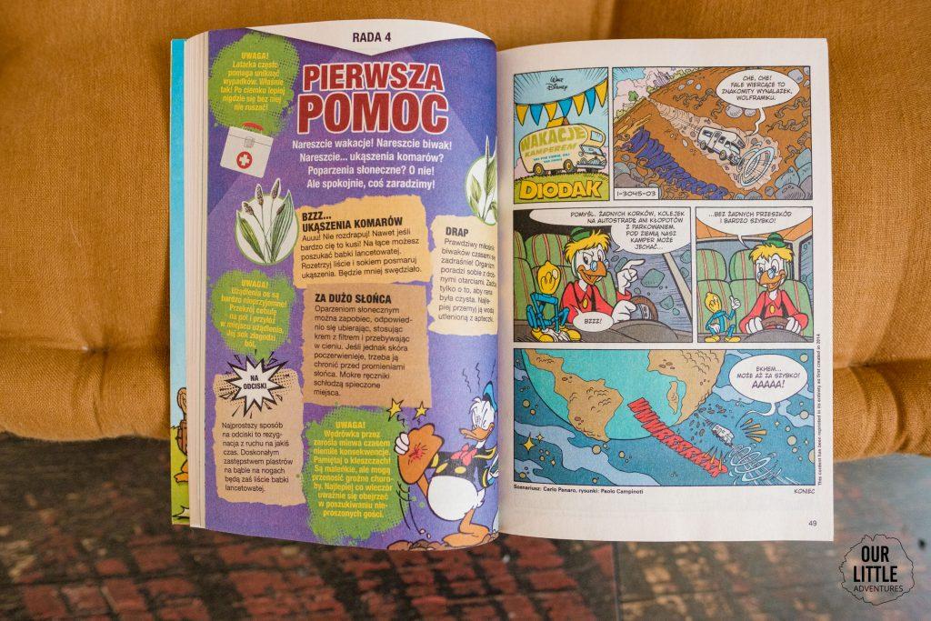 Przygoda na kempingu - komiksy dla dzieci - Kaczor Donald - Our Little Adventures