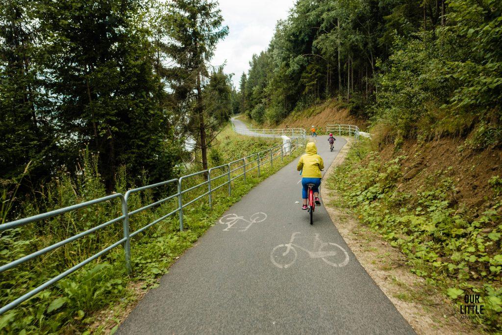 Ścieżka na Velo Czorsztyn jest idealna dla dzieci