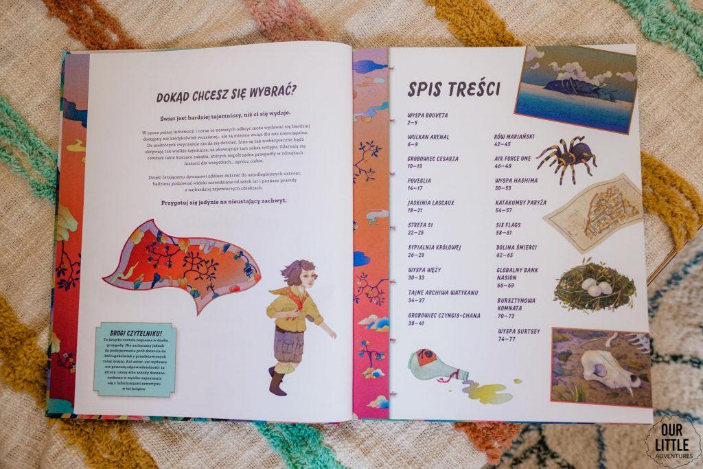 Książka Zakazane miejsce na świecie leży na łóżku - książki obrazkowe dla dzieci Znak Emotikon, zdjęcie autorstwa OurLittleAdventures.pl
