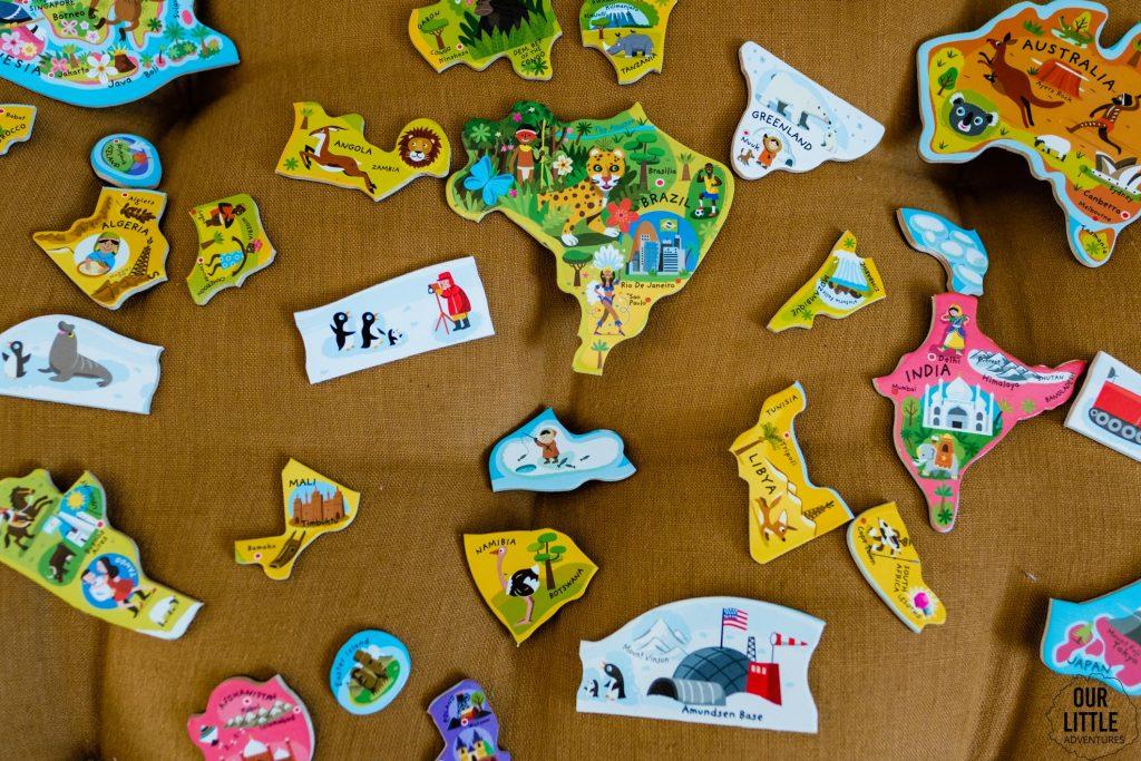 Puzzle z budowlami świata, zdjęcie autorstwa OurLittleAdventures.pl